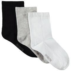 Juego de 3 pares de calcetines lisos