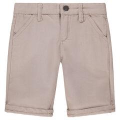 Bermudas de algodón de fantasía con bolsillos
