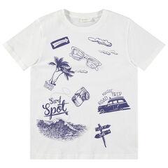 Júnior - Camiseta de manga corta con estampado de vacaciones