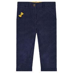Pantalón chino de rayas de fantasía