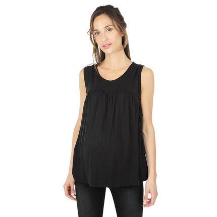 Camiseta premamá sin mangas y con lazos en los laterales