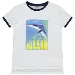 T-shirt manches courtes print deltaplane