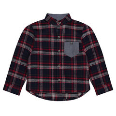 Camisa de manga larga a cuadros de franela