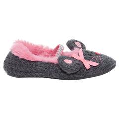 Zapatillas de punto de fantasía con forma de ratón