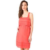 Vestido premamá de algodón con detalle de punto calado