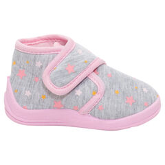 Patucos de estilo botines con estrella y velcro