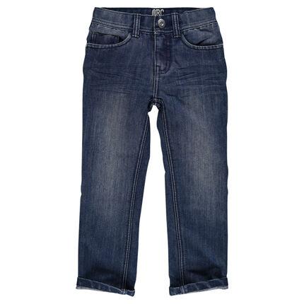 Jeans de corte recto sobrecostura