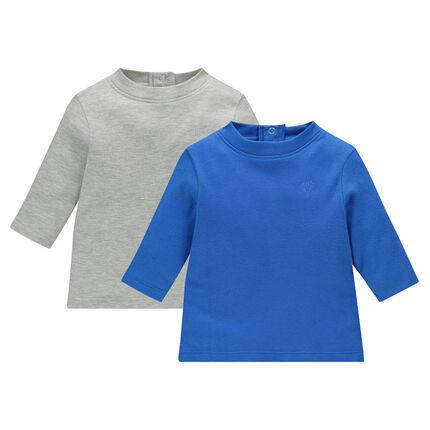 Lote de 2 camisetas interiores de color liso