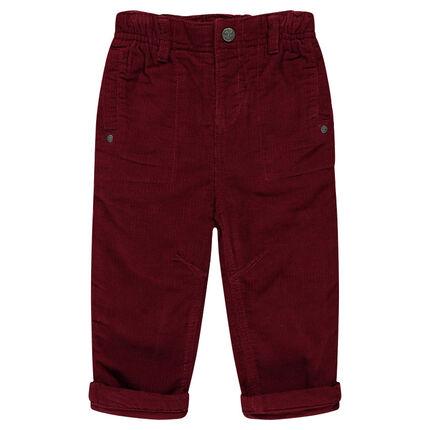 Pantalón de terciopelo con forro de tejido de punto