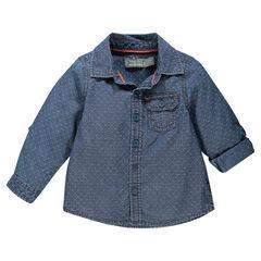 Camisa de chambray con motivo bolsillo con solapa