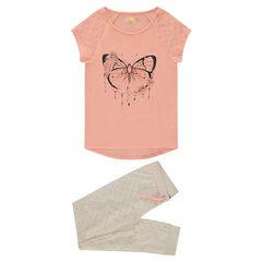 Júnior - Pijama de punto con mariposa estampada