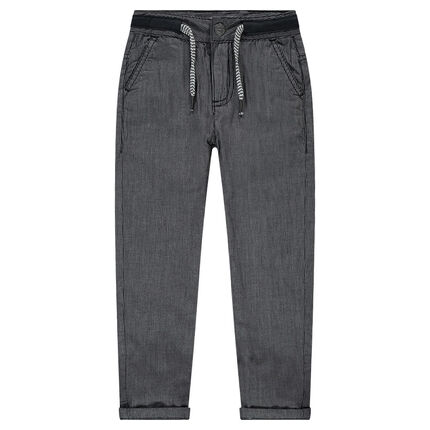 Pantalón con forro de puto de rayas finas