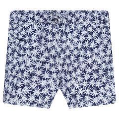 Pantalón corto de baño con estampado palmeras all over