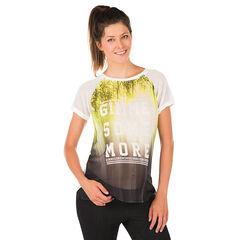 Camiseta manga corta para el embarazo de gasa