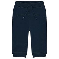 Pantalón de chándal de felpa con juego de cortes por delante y por detrás