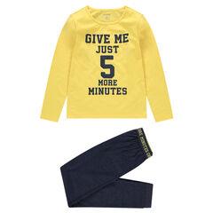 Júnior - Pijama de punto con mensaje estampado de estilo deportivo