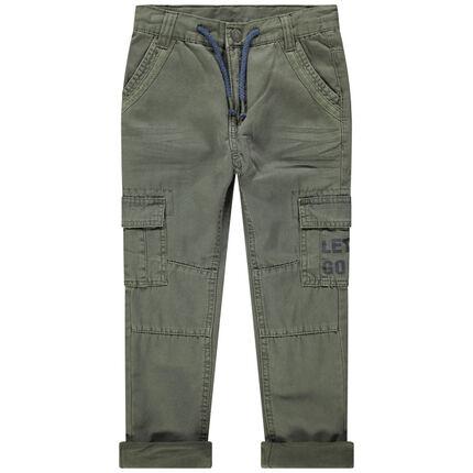 Pantalón de tela teñida con bolsillos