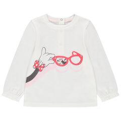 Camiseta de manga larga lisa con Minnie Disney
