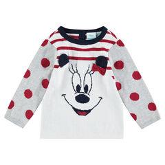 Jersey de punto con rayas y dibujo de Minnie de jacquard ©Disney