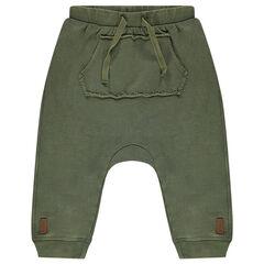 Pantalón de jogging de tiro bajo y muletón ligero