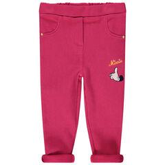 Leggings rosas con bordados de Minnie Disney