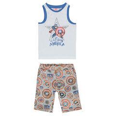Pijama de punto Marvel con estampado de Captain America