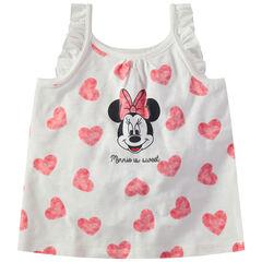 Camiseta de algodón con corazones all over y estampado de Minnie Disney