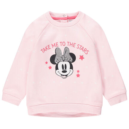 Sudadera de felpa con estrellas y estampado de Minnie Disney