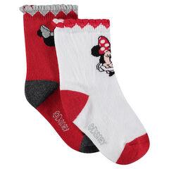 Juego de 3 pares de calcetines variados con dibujos de Jacquard de Disney Minnie