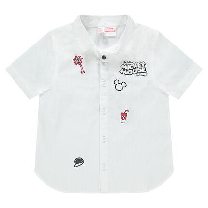 Camisa de manga corta con estampados de Mickey ©Disney