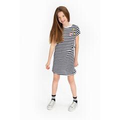 Júnior - Vestido de manga corta de rayas con parches ©Smiley