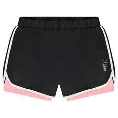 Pantalón corto 2 en 1 con cordoncillo que contrasta de estilo vintage