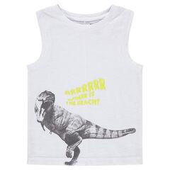 Camiseta de punto con dinosaurio estampado