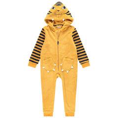 Pijama de borreguillo con tigre y detalles bordados