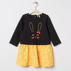 Robe manches longues effet 2 en 1 motif lapin pour bébé fille , Orchestra