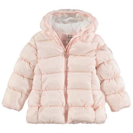 Anorak acolchado con capucha de forro polar