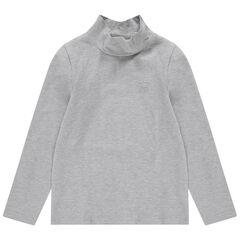 Júnior - Camiseta interior de punto de cuello alto con logo estampado