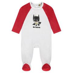 Pijama de terciopelo bicolor estampado ©Warner Batman