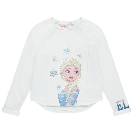 Sweat en molleton uni print Elsa Reine des neiges Disney