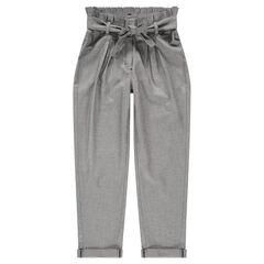 Junior - Pantalón de punto de fantasía con talle carrot
