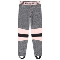 Pantalón de tubo deportivo con bandas que contrastan