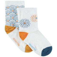 Juego de 2 pares de calcetines variados con motivos gráficos