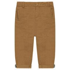 Pantalón chino de algodón otomano