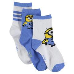Lote de 3 pares de calcetines con motivo Minion