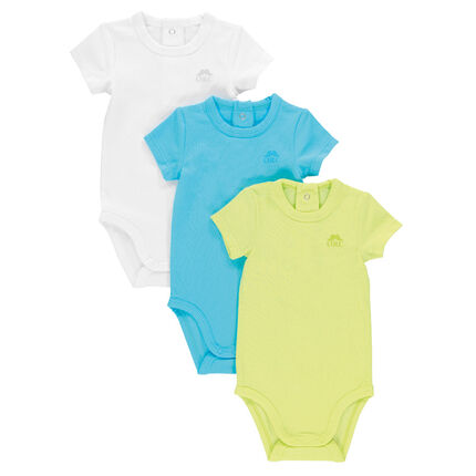 Lote de 3 bodies manga corta de color uniforme