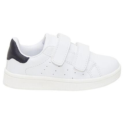 Zapatillas deportivas bajas con velcros y aplicaciones en contraste negras