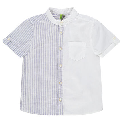 Camisa de manga corta con rayas