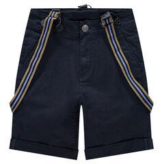 Júnior - Pantalón corto con tirantes de rayas desmontables