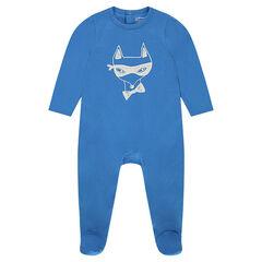 Pijama de punto con estampado de zorro
