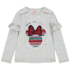 T-shirt manches longues volantés à sequins magiques Minnie